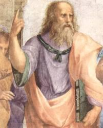 """Платон на фреске Рафаэля Санти """"Афинская школа"""""""